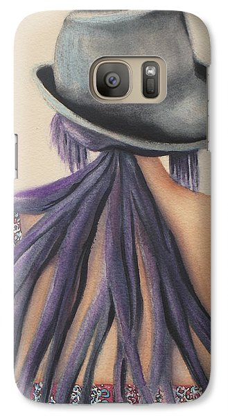 Galaxy Case featuring the painting What Lies Ahead Series   by Chrisann Ellis