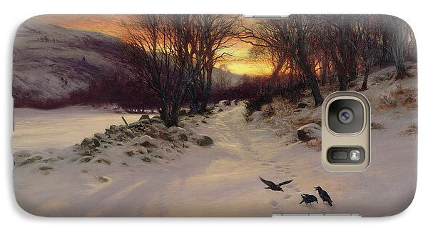When The West With Evening Glows Galaxy Case by Joseph Farquharson