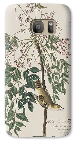 Flycatcher Galaxy S7 Case - White-eyed Flycatcher by John James Audubon