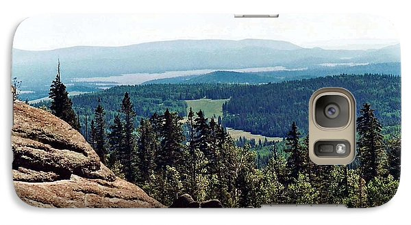 Galaxy Case featuring the photograph White Mountains Of Arizona by Juls Adams