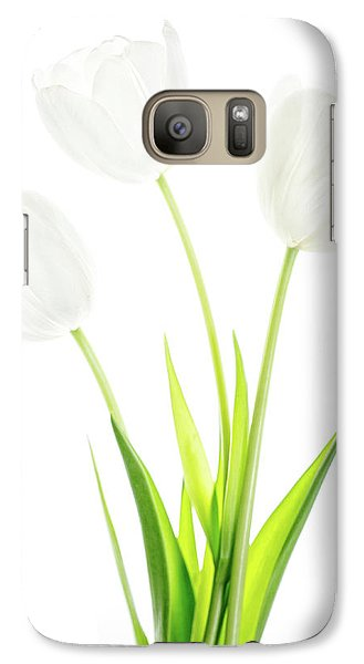 Galaxy Case featuring the photograph White On White by Rebecca Cozart