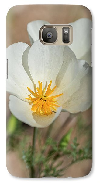 Galaxy Case featuring the photograph White Poppies  by Saija Lehtonen