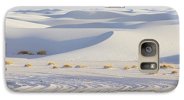 Galaxy Case featuring the photograph White Sands New Mexico by Elvira Butler