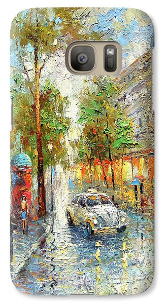 Galaxy Case featuring the painting White Taxi by Dmitry Spiros