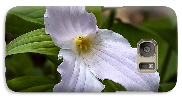 Galaxy Case featuring the photograph White Trillium by Tyson and Kathy Smith