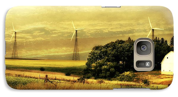 Galaxy Case featuring the photograph Wind Turbines by Julie Hamilton