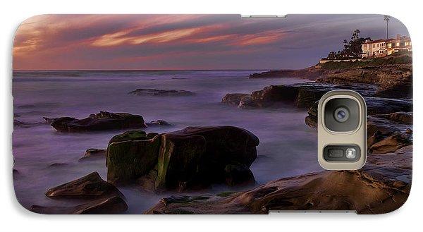 Galaxy Case featuring the photograph Windansea Beach At Dusk by Eddie Yerkish