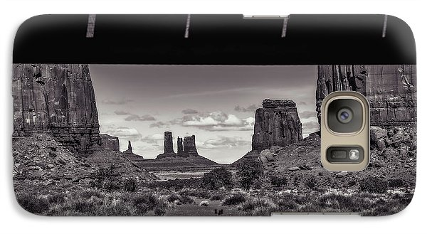 Galaxy Case featuring the photograph Window Into Monument Valley by Eduard Moldoveanu