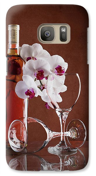 Orchid Galaxy S7 Case - Wine And Orchids Still Life by Tom Mc Nemar