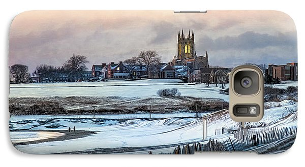 Galaxy Case featuring the photograph Winter Dusk by Robin-Lee Vieira