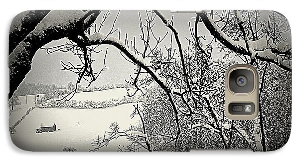 Galaxy Case featuring the photograph Winter Scene In Switzerland by Susanne Van Hulst