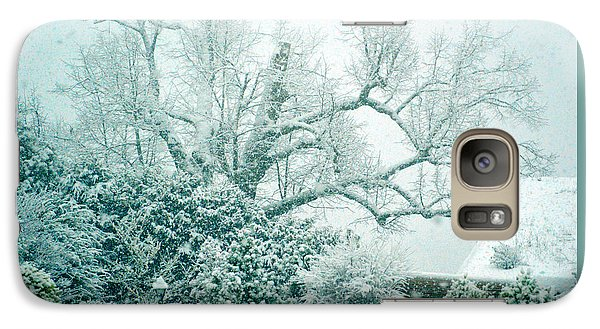 Galaxy Case featuring the photograph Winter Wonderland In Switzerland by Susanne Van Hulst