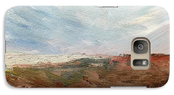 Galaxy Case featuring the painting Witness by Trilby Cole