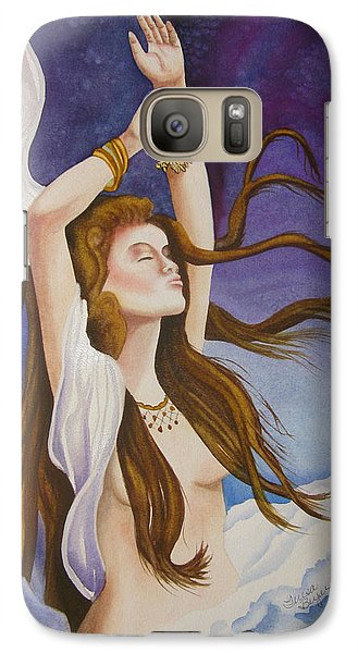 Galaxy Case featuring the painting Woman Unleashed by Teresa Beyer