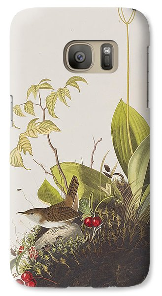 Wood Wren Galaxy S7 Case by John James Audubon