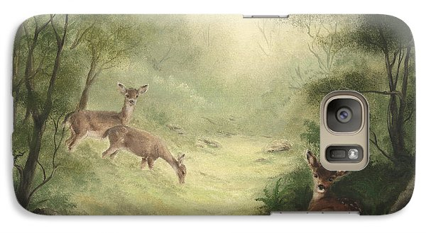 Galaxy Case featuring the painting Woodland Surprise by Cathy Cleveland