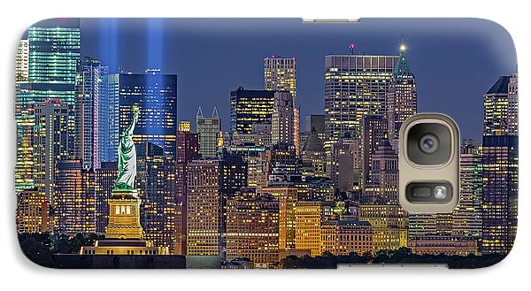Galaxy Case featuring the photograph World Trade Center Wtc Tribute In Light Memorial II by Susan Candelario