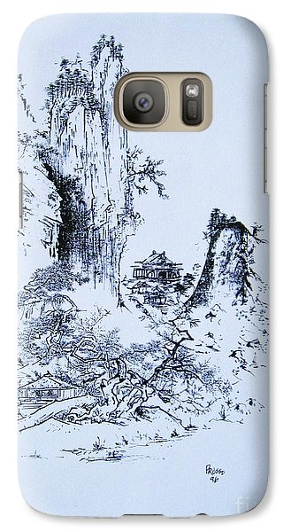 Galaxy Case featuring the painting Yama No Fukei by Roberto Prusso