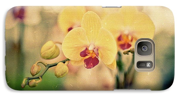 Galaxy S7 Case featuring the photograph Yellow Orchids by Ana V Ramirez