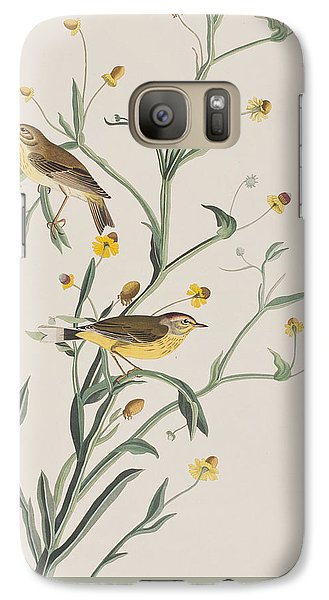 Warbler Galaxy S7 Case - Yellow Red-poll Warbler by John James Audubon