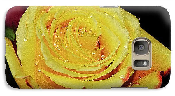 Galaxy Case featuring the photograph Yellow Rose by Elvira Ladocki