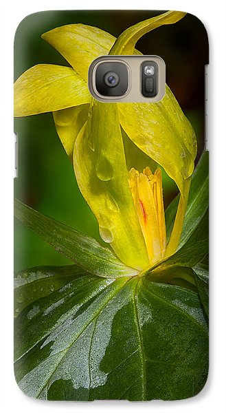 Galaxy Case featuring the photograph Yellow Trillium by Tyson and Kathy Smith