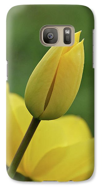 Galaxy Case featuring the photograph Yellow Tulips by Sandy Keeton