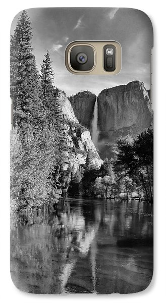 Galaxy Case featuring the photograph Yosemite Falls Spring Reflections by Stephen  Vecchiotti
