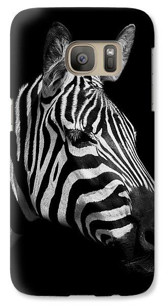 Zebra Galaxy Case by Paul Neville