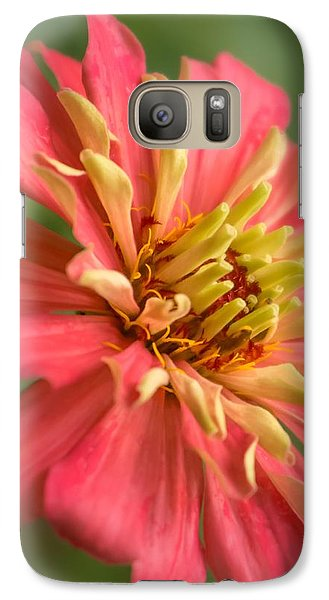 Galaxy Case featuring the photograph Zinnia by Jim Hughes