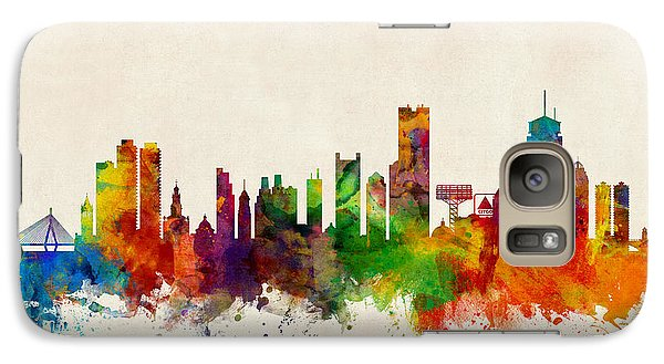 Boston Massachusetts Skyline Galaxy S7 Case