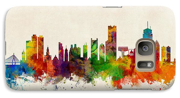 Boston Massachusetts Skyline Galaxy S7 Case by Michael Tompsett