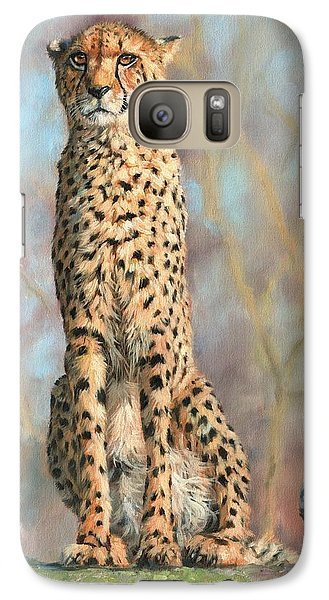 Cheetah Galaxy Case by David Stribbling