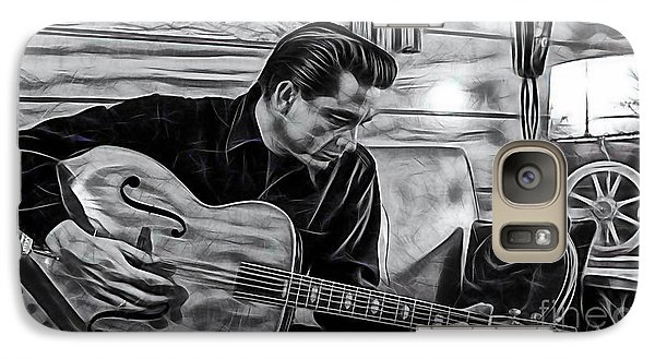Johnny Cash Collection Galaxy Case by Marvin Blaine