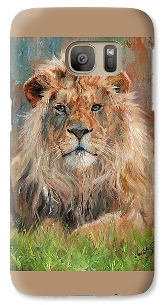 Galaxy Case featuring the painting Lion by David Stribbling