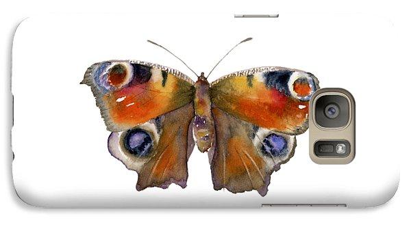 Peacock Galaxy S7 Case - 10 Peacock Butterfly by Amy Kirkpatrick