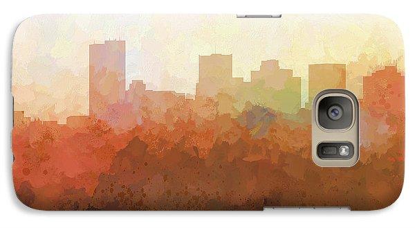 Galaxy Case featuring the digital art Phoenix Arizona Skyline by Marlene Watson