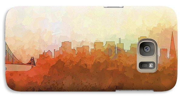 Galaxy Case featuring the digital art San Francisco California Skyline by Marlene Watson