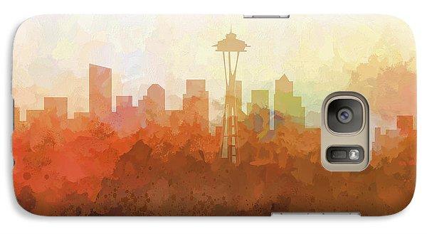 Galaxy Case featuring the digital art Seattle Washington Skyline by Marlene Watson