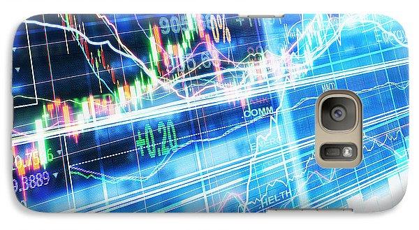 Galaxy Case featuring the photograph Stock Market Concept by Setsiri Silapasuwanchai