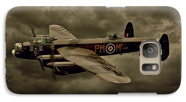 Galaxy Case featuring the photograph 103 Squadron Avro Lancaster by Steven Agius