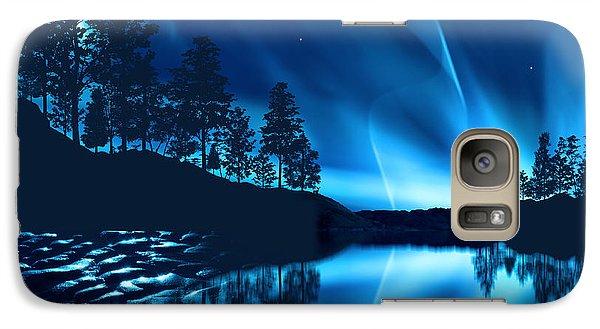 Galaxy Case featuring the photograph Aurora Borealis by Setsiri Silapasuwanchai