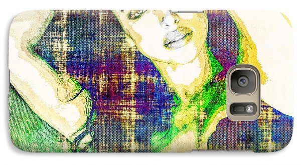 Galaxy Case featuring the mixed media Irina Shayk by Svelby Art