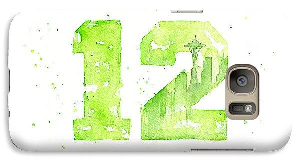 Hawk Galaxy S7 Case - 12th Man Seahawks Art Go Hawks by Olga Shvartsur