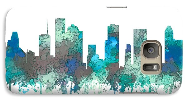 Galaxy Case featuring the digital art Houston Texas Skyline by Marlene Watson