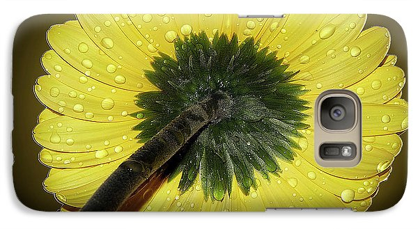 Galaxy Case featuring the photograph Yellow Gerber by Elvira Ladocki