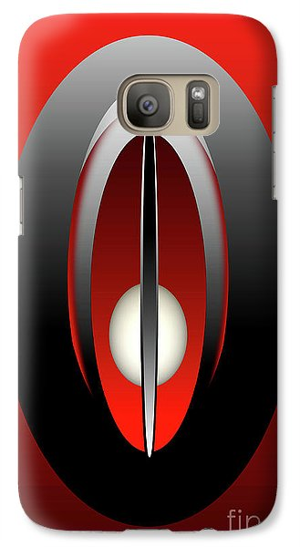 Galaxy Case featuring the digital art 1328 Red-2017 by John Krakora