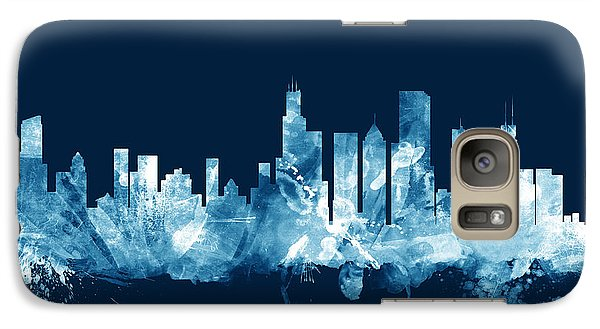 Chicago Illinois Skyline Galaxy Case by Michael Tompsett