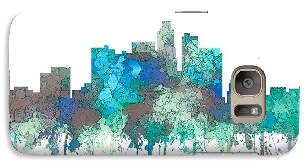 Galaxy Case featuring the digital art Los Angeles California Skyline by Marlene Watson