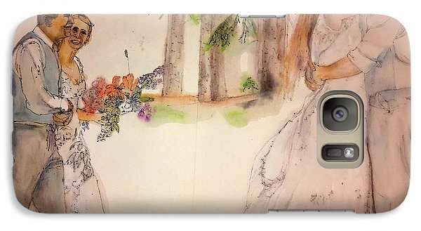 Galaxy Case featuring the painting The Wedding Album  by Debbi Saccomanno Chan